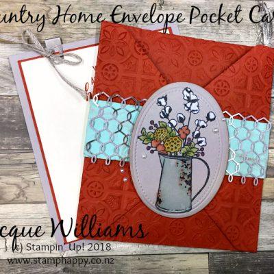 Country Home Envelope Pocket Card – December All Stars Team Blog Hop