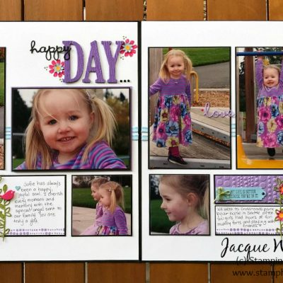 Bloom by Bloom Double Page Scrapbooking Layout