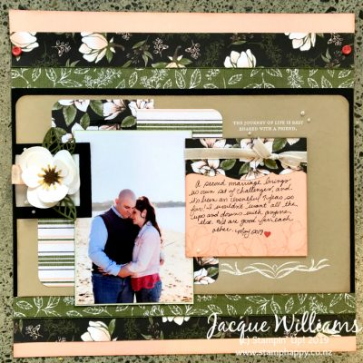 Good Morning Magnolia Double Scrapbooking Layout