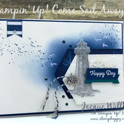 Come Sail Away Nautical Card