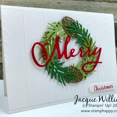 Beautiful Boughs – Clean, Quick Christmas Card