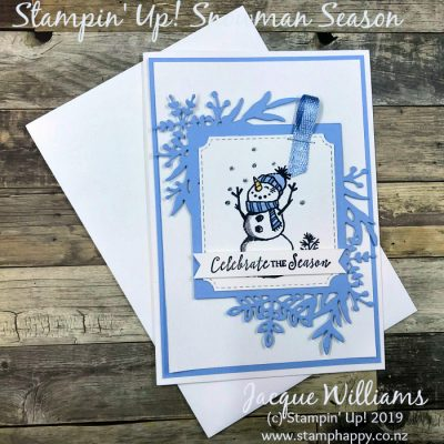 Snowman Season for a Quick & Pretty Christmas Card