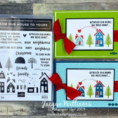 Video Tutorial: Quick Christmas Card with From Our House to Yours