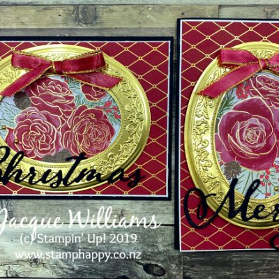 Christmas Rose in an Heirloom Frame – Quick Christmas Card
