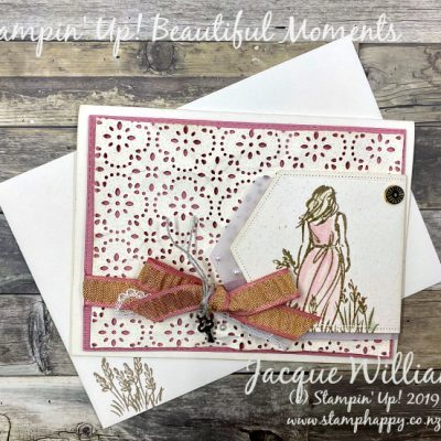 Beautiful Moments in Vintage with a Stitched Lace Background