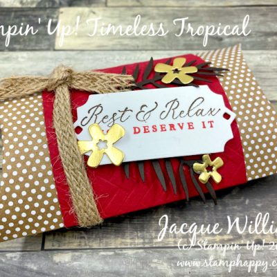 Timeless Tropical Oasis Pillow Box – Great for a Small Gift!
