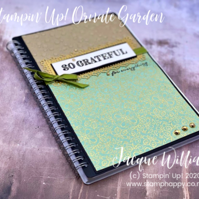 Ornate Garden Gratitude Journal – Altered Notebook with Video Tutorial!