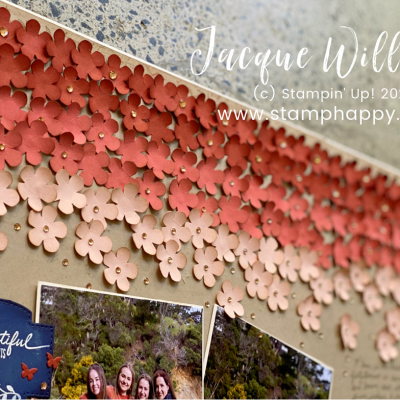 Ombre Double Scrapbooking Layout with the Small Bloom Punch!