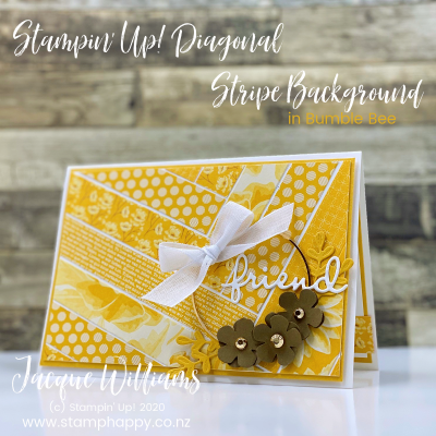 Yellow is a Happy Color!  Using Your Patterned Paper Strips