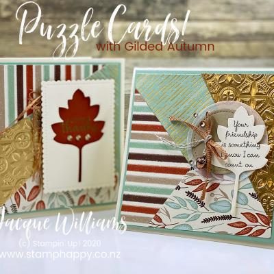 Gilded Autumn – Square Puzzle Cards!  Video Tutorial