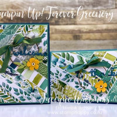 Forever Fern Diagonal Strip Background – Using Your Scraps!