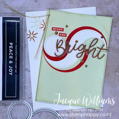 Peace and Joy Circle Flourish Card!  Video Tutorial!