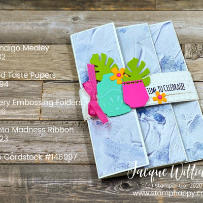 One More Tri-Fold Card – with Boho Indigo Medley!