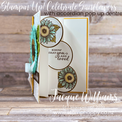 Celebrate Sunflowers Accordion Pop Up Card! All Stars Flowers for All Seasons Hop