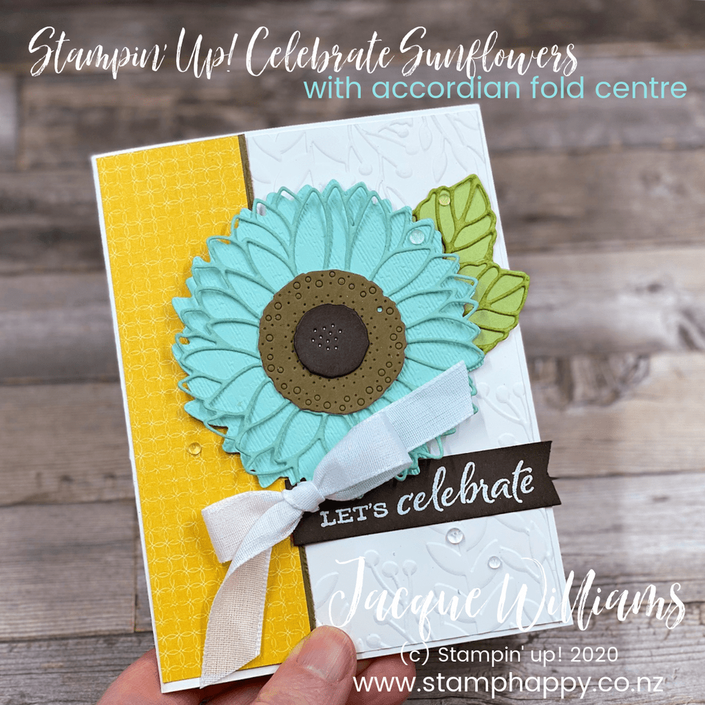 stampin up celebrate sunflowers fun fold fancy fold accordion all stars video tutorials