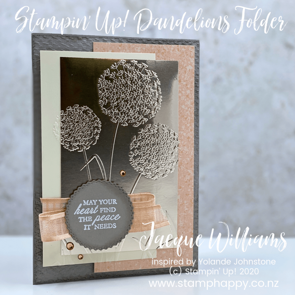 stampin up dandelion magnolia sympathy card champagne foil quick easy video tutorial new zealand card class