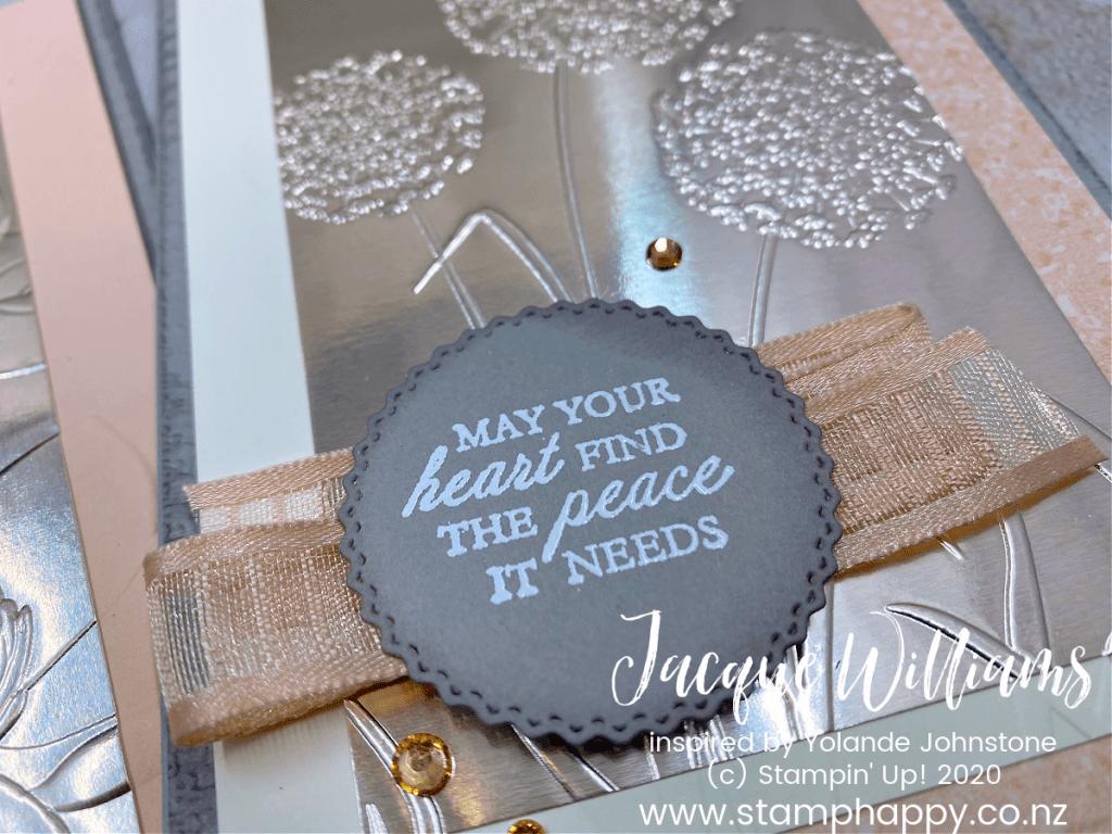 stampin up dandelion magnolia sympathy card champagne foil quick easy video tutorial