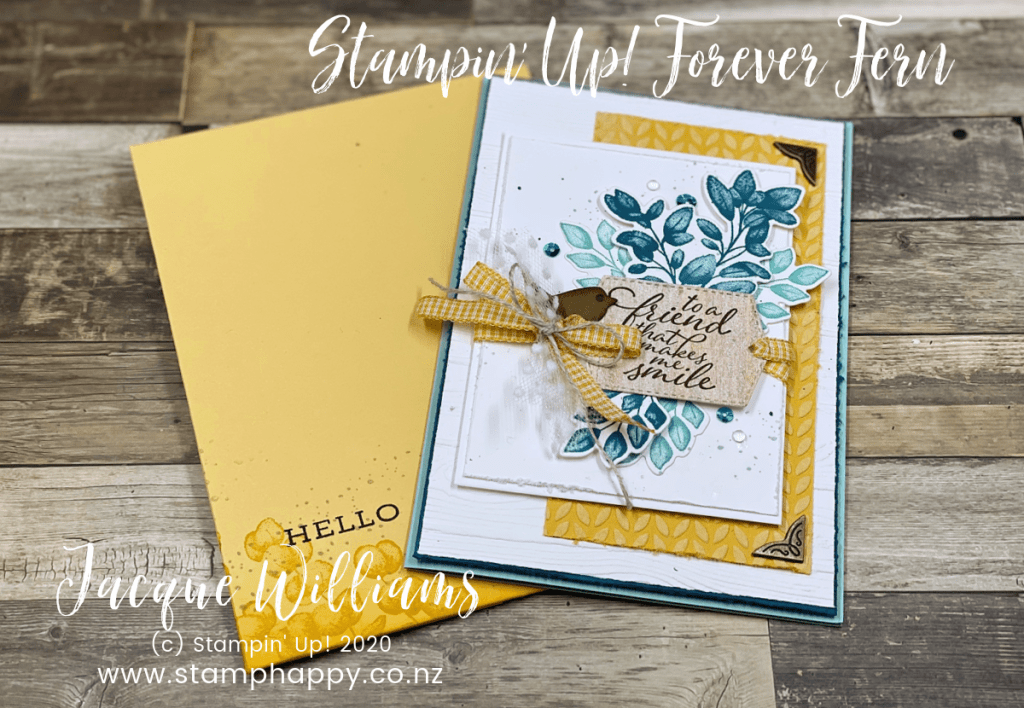 stampin up forever fern bumblebee bumble bee custom size envelope how to clasp envelope