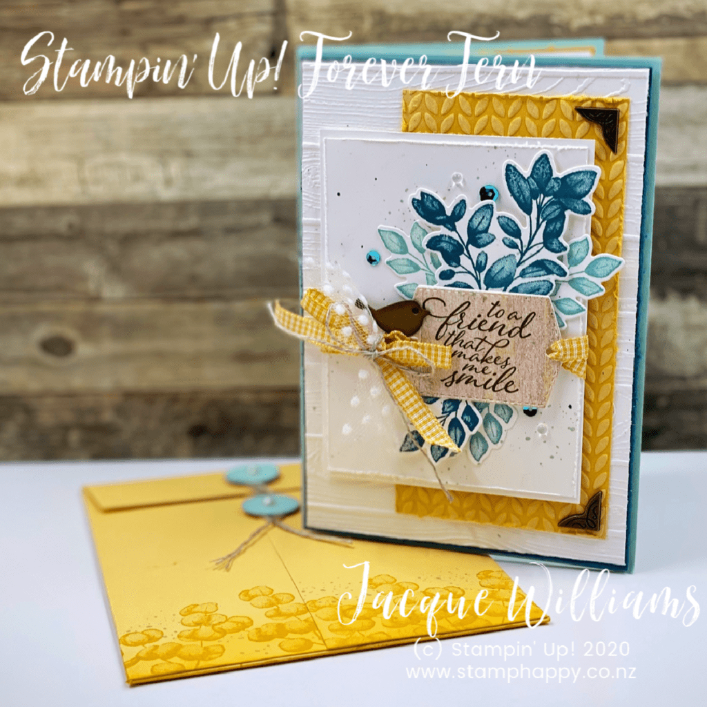 stampin up forever fern bumblebee bumble bee custom size envelope how to