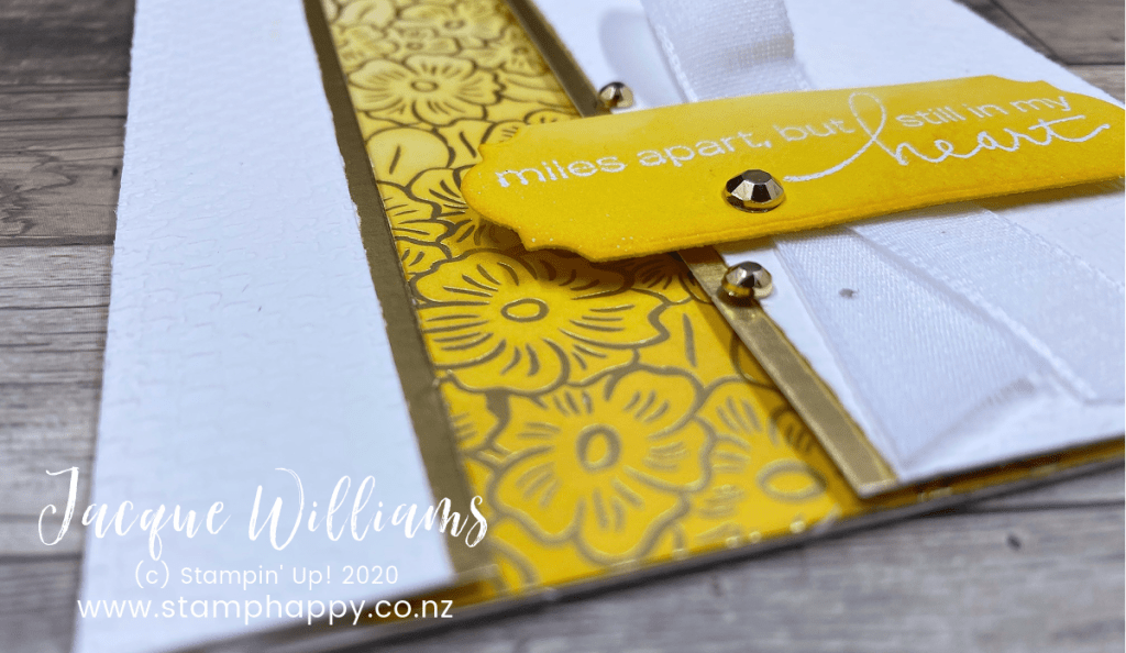 stampin up close to my heart inking papers altered sponging customizing customising video tutorial made in new zealand stamphappy jacque Williams