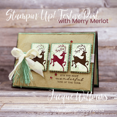 Festive Post Vintage Christmas Card – Facebook Live Replay!