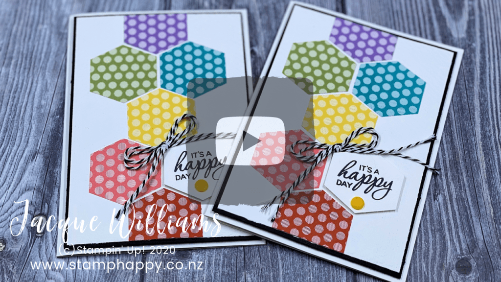 stampin up tailored tag punch rainbow brights quick card idea made in new zealand
