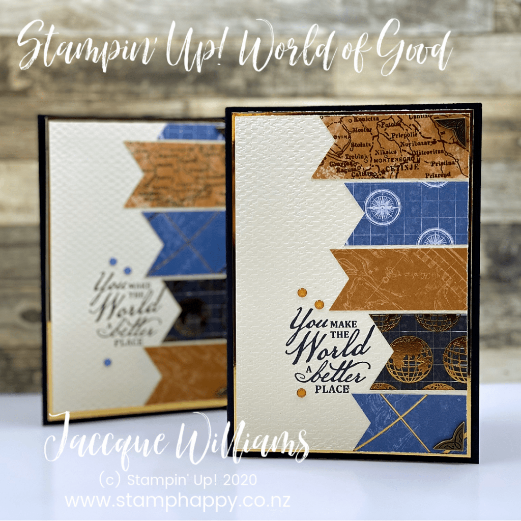 world of good stampin up masculine card brass quick easy card new zealand