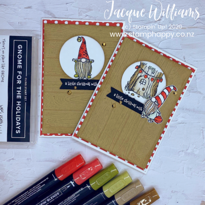 Simple Christmas Gnomes for the Holidays with Stampin Blends Alcohol Markers