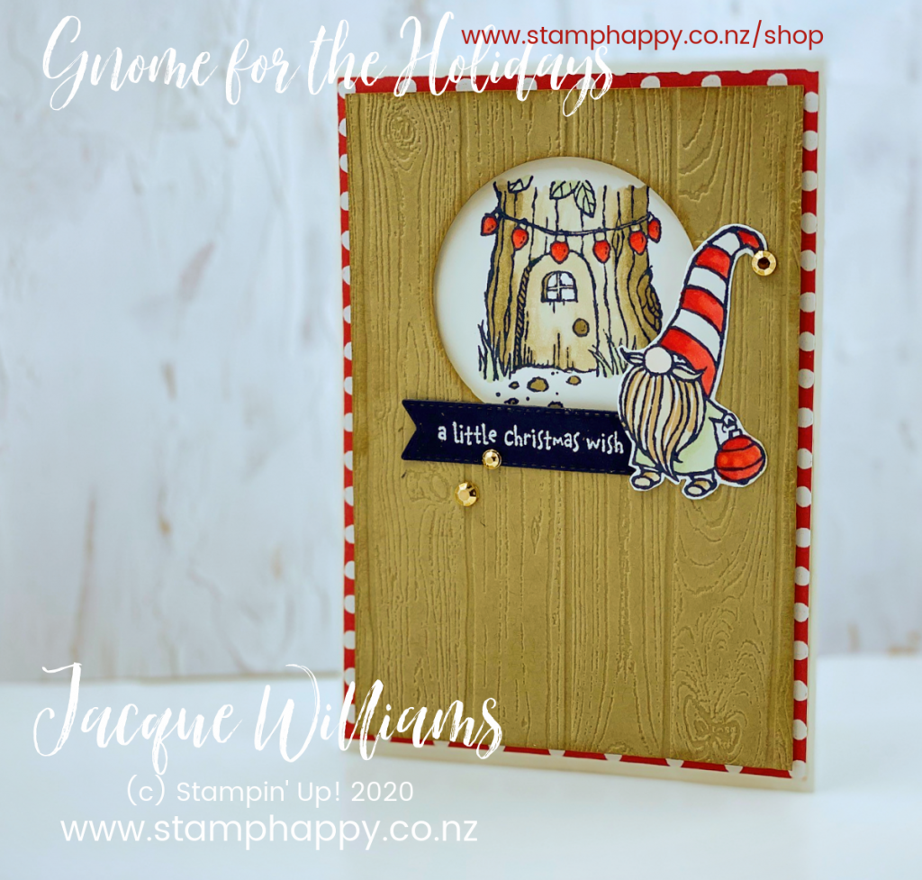 stampin up gnome for the holidays gnomes garden alternative christmas non religious stampin blends alcohol markers copic new zealand stamp class