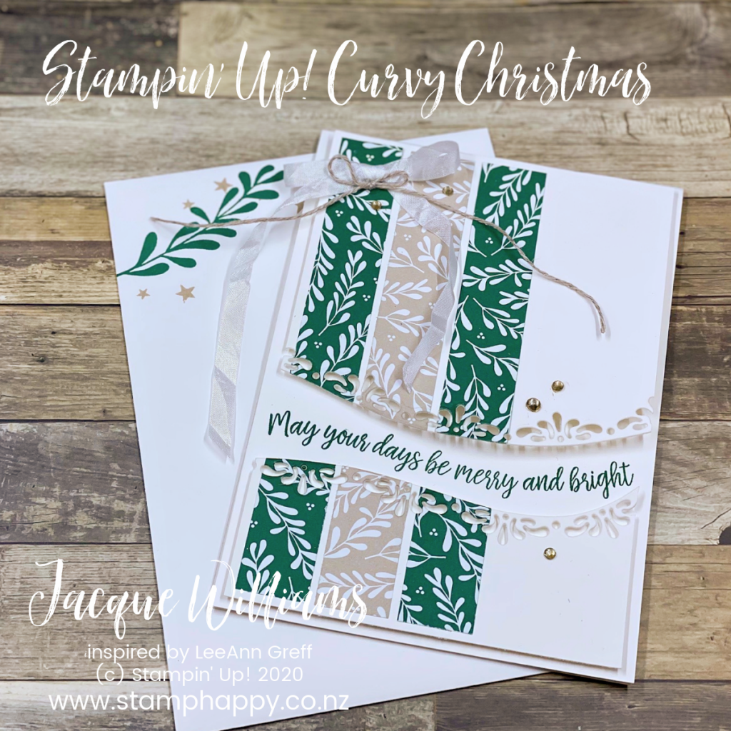 stampin up new zealand curvy christmas quite curvy leeann greff quick christmas card how do I make christmas card class