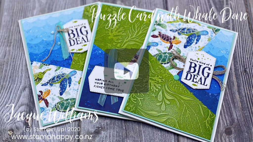 stampin up new zealand stamphappy stamp happy jacque jackie snowflake splendour splendor puzzle card idea video tutorial free using scraps printed paper