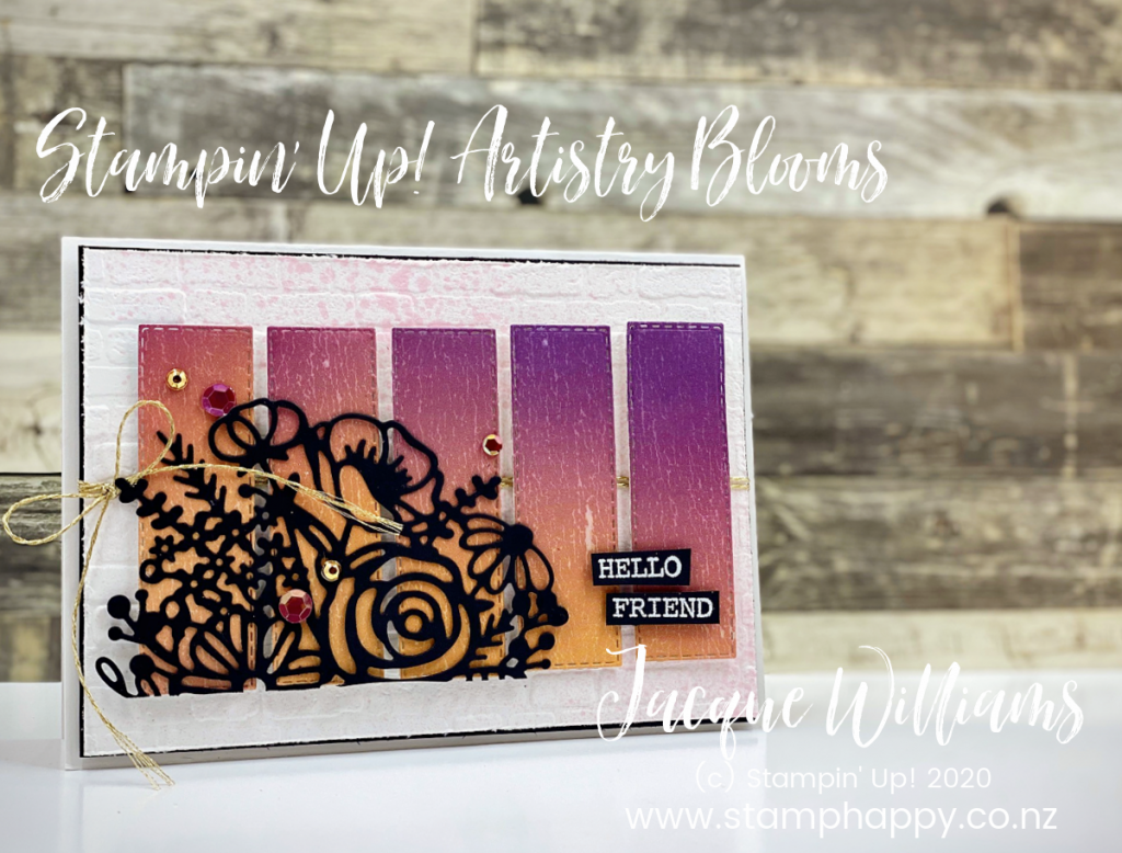 stampin up new zealand card classes scrapbooking class artistry blooms stampin up south pacific ombre how do I make a card hand drawn blooms jacque williams jackie grafitti brick mortar