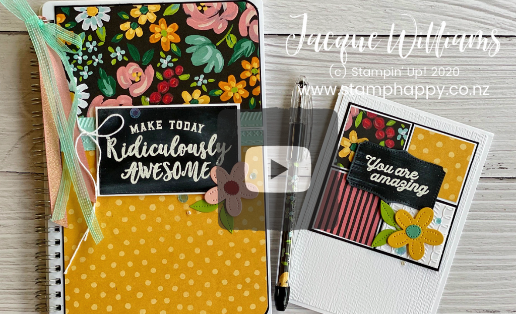 Learn the quick & easy Chalkboard Technique to add a bit of fun to your next project!  Perfect with the new Field & Flower dsp papers, keep it simple.  stampin up new zealand