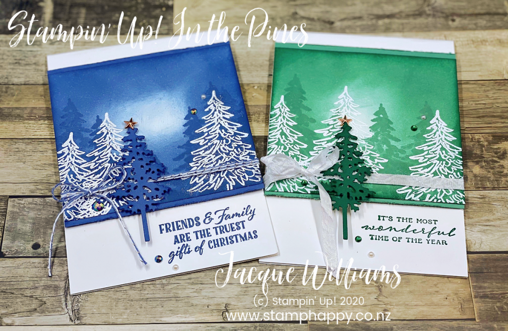Make a Christmas card with just one colour of ink pad!  Video instructions on the sponging technique and this adaptable card idea.   stampin up new zealand