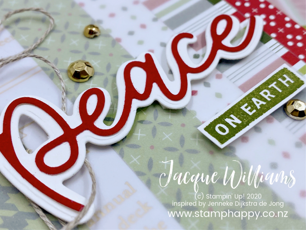 stampin up new zealand heartwarming hugs online class peace joy to the world peace on earth christmas card how do I make your own christmas card class