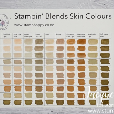Free Skin Tones Chart for the Stampin' Blends Alcohol Markers