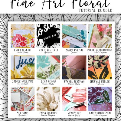 Fine Art Floral 12 Tutorial Collection Now Available!  Free with Purchase!