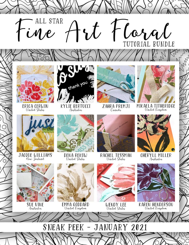 If you love the Fine Art Floral suite, this is a wonderful collection of tutorials from 12 designers around the world!  Make the most of your purchase and products with these exclusive projects with full instructions!
