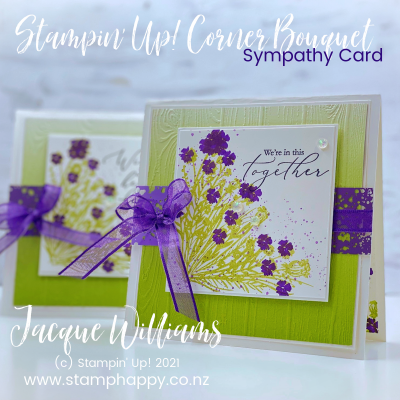 Make a Pretty Sympathy Card with the Corner Bouquet