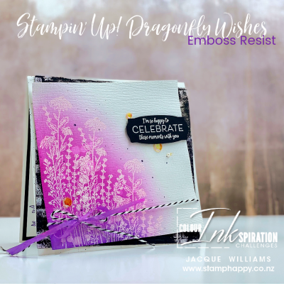 Colour Inkspiration #91 – Brights Dragonfly Garden with Blending Brushes!