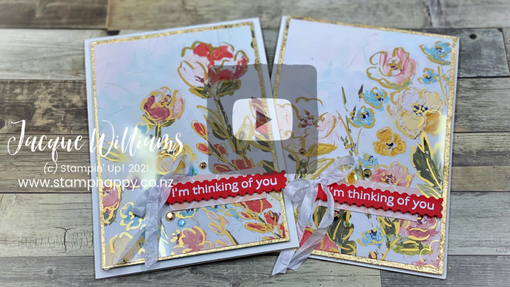 How to use Gold Leaf with the Gilded Leafing  and Heat and Stick Powder!  Tips along the way in this video tutorial featuring the new Fine Art Floral bundle.   Stampin' Up! New Zealand