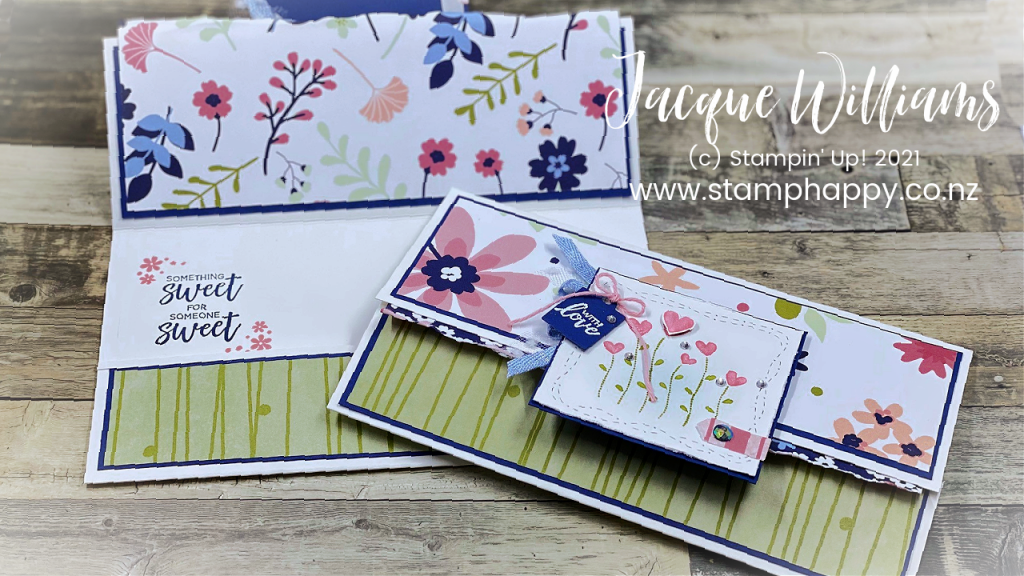 Stampin' Up! is perfect for stamping Valentine Keepsakes!  Make this cute , easy wallet card with the Valentine Keepsakes and the Stitched with Whimsy dies.  Stamping Classes New Zealand