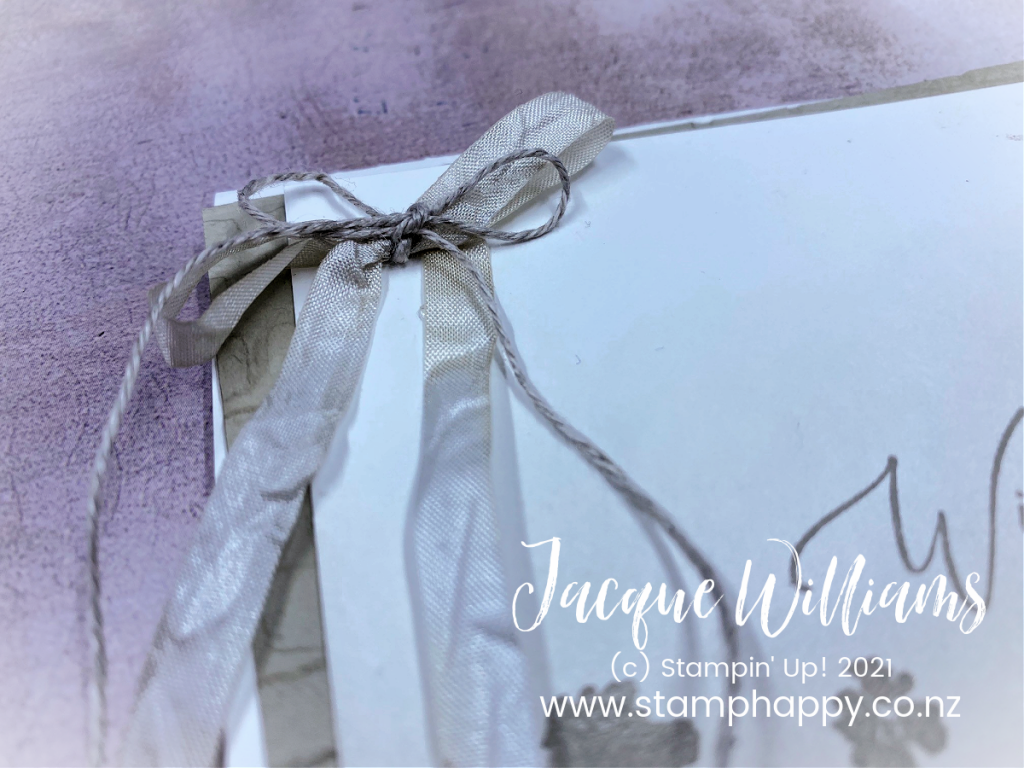 When you need a sympathy card quickly, the blending brushes and the corner bouquet do the trick.  You only need one ink color and coordinating cardstock.