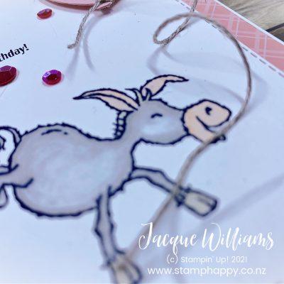 Quick Darling Donkeys Monochromatic Birthday Card