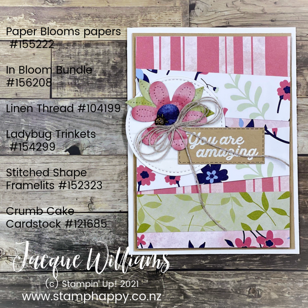 Learn how to make a pretty bow with linen thread or twine in today's tutorial video.  I'll also show you a fun background technique using your scraps.  stamp classes New Zealand