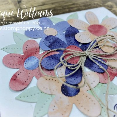 Quick Pierced Blooms Birthday Gift Card – Use Your Scraps!