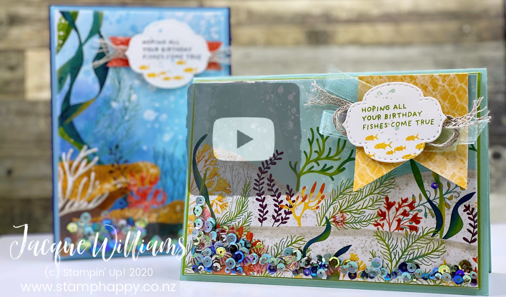 Make a fast and easy shaker card with the Whale of Time Suite - perfect for guys or girls, both young and not so young!  Video Tutorial on the quickest shaker card ever.  Stamping Classes in New Zealand