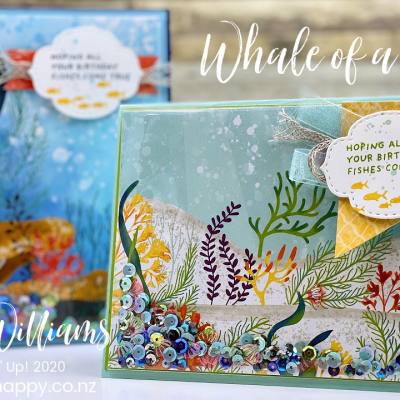 Easy Shaker Beach Shaker Card – Whale of a Time!