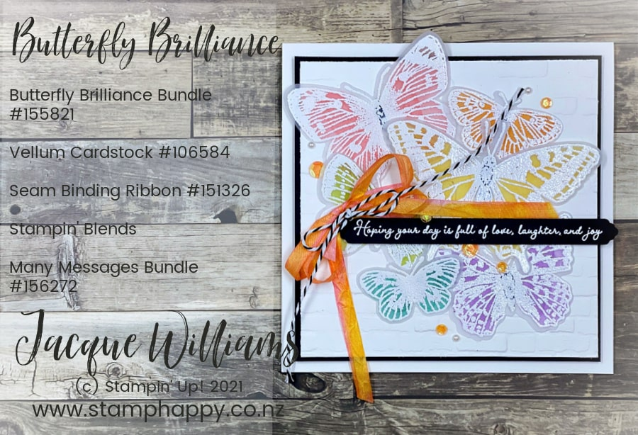 Use Vellum and your Stampin' Blends to create a beautiful, soft colored vellum for your butterfly projects! Step by Step video tutorial with measurements.  Craft Classes in New Zealand