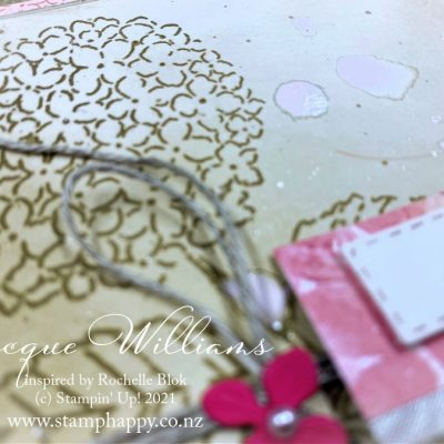 Use Blending Brushes to Easily Create Colored Cardstock – with Hydrangea Hill